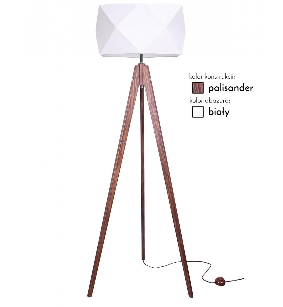 lampa stojaca z abazurem nowoczesna drewno led 1