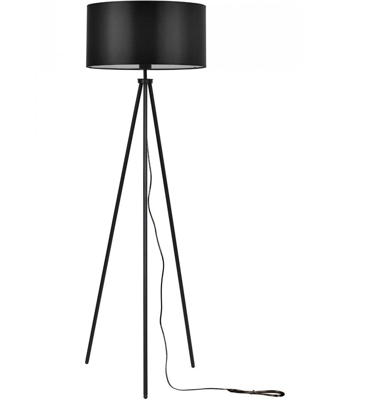 lampa stojaca z abazurem trojnog podlogowa