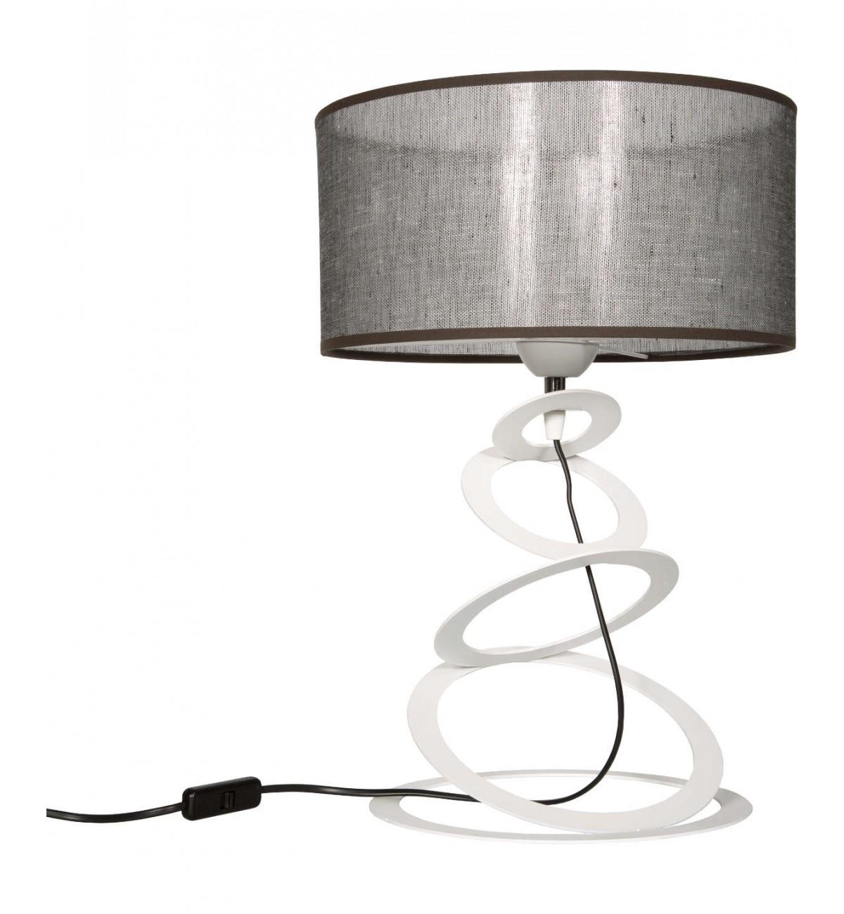 lampka nocna stojaca z abazurem